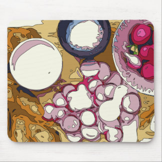 Delicious Radishes and Baguette Vegetables Mouse Pad