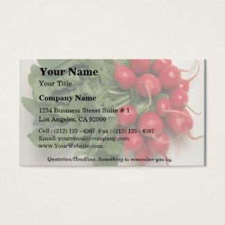 Delicious Radishes Business Card