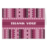 Delicious Raspberry Sherbet Pink Thank You Greeting Cards