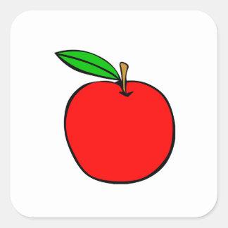 Delicious Red Apple Square Sticker