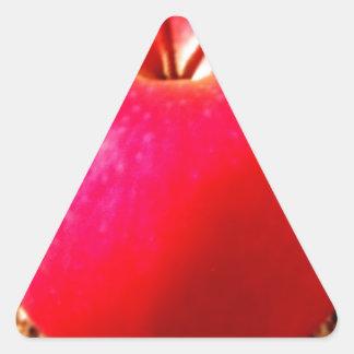 Delicious Red Apple Triangle Sticker