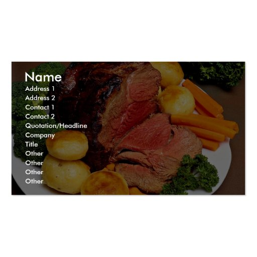 Delicious Roast beef Double-Sided Standard Business Cards (Pack Of 100)