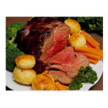 Delicious Roast beef Post Card
