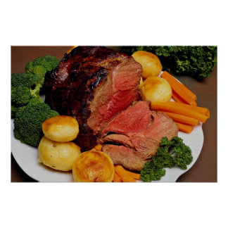 Delicious Roast beef Poster