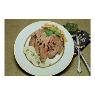Delicious Roast beef with potatoes Poster