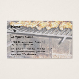 Delicious Roasted Chicken Above The Fire Business Card