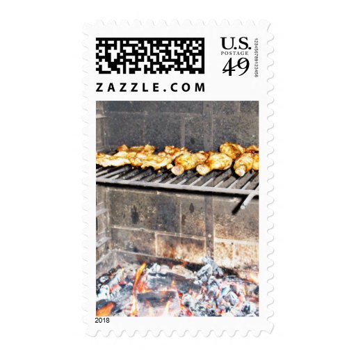 Delicious Roasted Chicken Above The Fire Stamps