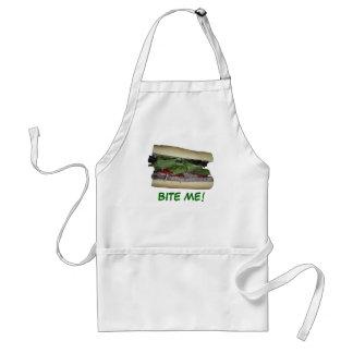 Delicious Sandwich! Bite me! Adult Apron
