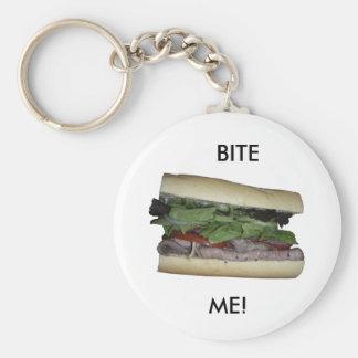 Delicious Sandwich! Bite me! Basic Round Button Keychain