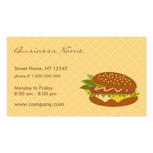 Delicious Sandwich Business Card