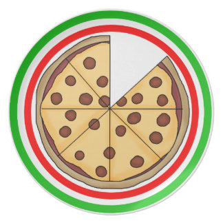 Delicious Sliced Pizza Pie Dinner Plates