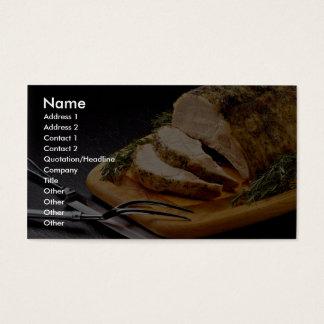 Delicious Sliced pork roast Business Card