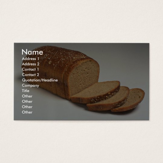 Delicious Sliced wheat bread Business Card