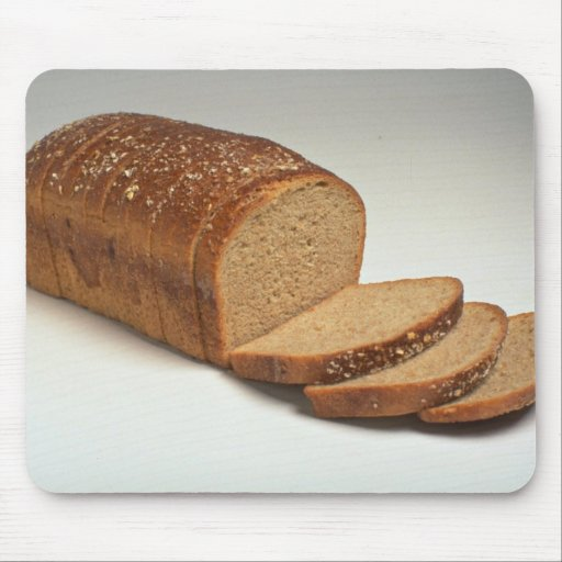 Delicious Sliced wheat bread Mouse Pads