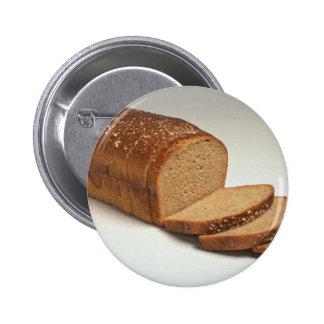 Delicious Sliced wheat bread Pinback Button