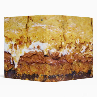 Delicious Smore Brownies 3 Ring Binder
