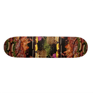 Delicious Spareribs, chicken, wieners and burgers Skate Decks