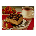 Delicious Strawberries and cake Greeting Card