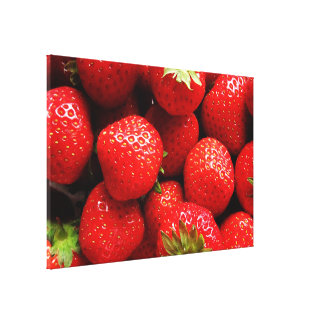 Delicious Strawberries Gallery Wrapped Canvas