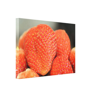 Delicious Strawberries Stretched Canvas Print
