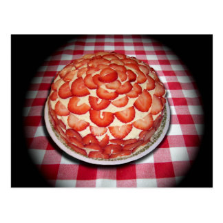 Delicious Strawberry Cake Postcard