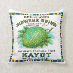 Delicious Supreme Kayot Preserved Tropical Fruit Throw Pillow