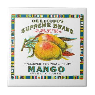 Delicious Supreme Mango Preserved Tropical Fruit Ceramic Tile