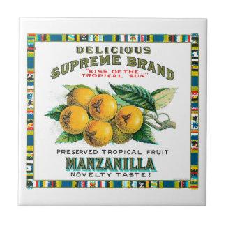 Delicious Supreme Manzanilla Preserved Tropical Fr Ceramic Tile
