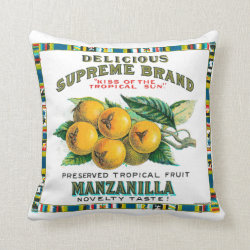 Delicious Supreme Manzanilla Preserved Tropical Fr Throw Pillow