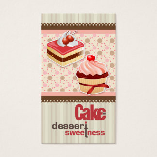 Delicious Sweetness Bakery Business Card