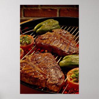 Delicious T-bone steaks Poster
