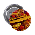 Delicious tacos dish pinback buttons