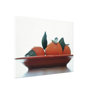 Delicious Tangerine fruits in a bowl Canvas Prints