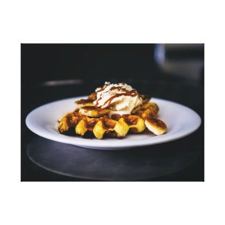 Delicious thick waffle for breakfast canvas print