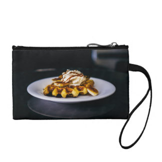 Delicious thick waffle for breakfast coin purse
