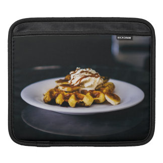 Delicious thick waffle for breakfast iPad sleeve