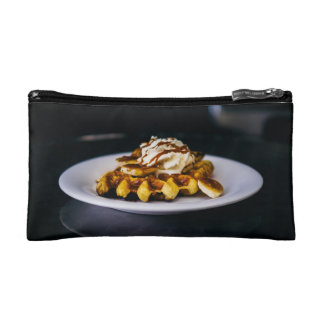 Delicious thick waffle for breakfast makeup bag