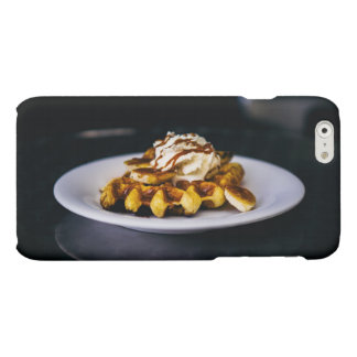 Delicious thick waffle for breakfast matte iPhone 6 case