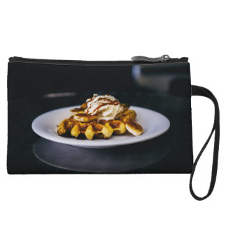 Delicious thick waffle for breakfast wristlet wallet