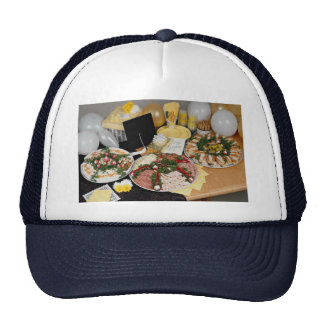 Delicious Three deli platters with balloons Hat