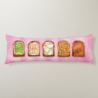 Delicious toast illustration body pillow