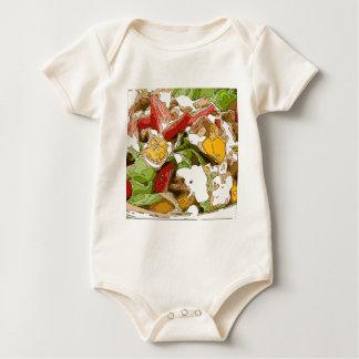 Delicious Tomato, Avocado and feta cheese salad Baby Bodysuit