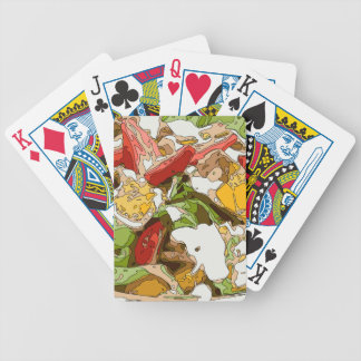 Delicious Tomato, Avocado and feta cheese salad Bicycle Playing Cards