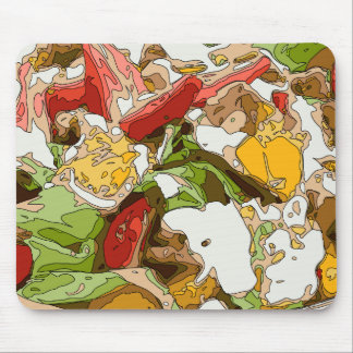 Delicious Tomato, Avocado and feta cheese salad Mouse Pad