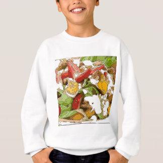Delicious Tomato, Avocado and feta cheese salad Sweatshirt