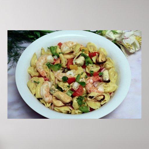 Delicious Tortellini salad Poster