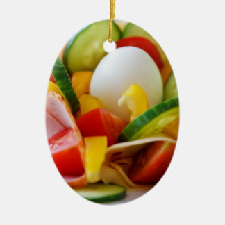 Delicious Vegetables Salad Food Picture Ceramic Ornament