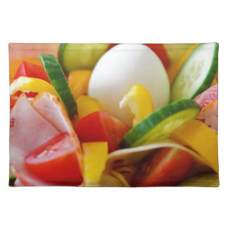 Delicious Vegetables Salad Food Picture Cloth Placemat