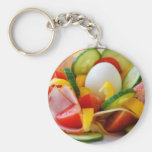 Delicious Vegetables Salad Food Picture Key Chain