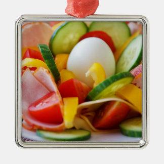 Delicious Vegetables Salad Food Picture Metal Ornament